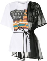 Sacai deconstructed sheer T-shirt