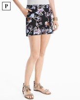 White House Black Market Petite 4 1/2-inch Floral Printed Smooth Stretch Shorts