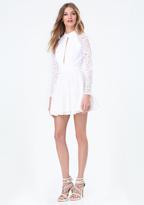 Bebe Viviane Open Back Dress