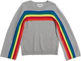 Autumn Cashmere Rainbow Stripe Cotton Sweater, Size 8-16
