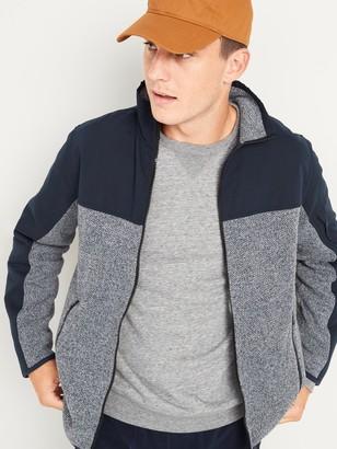 Old Navy Go-Warm Color-Block Sweater-Fleece Hybrid Jacket for Men