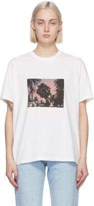 Saint Laurent White VHS Dark Sunset T-Shirt