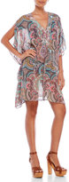 Red Carter Printed V-Neck Caftan Cover-Up