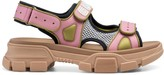 Gucci Women's leather and mesh sandal