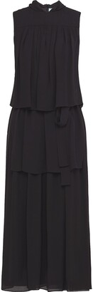 Prada Sable crepe dress