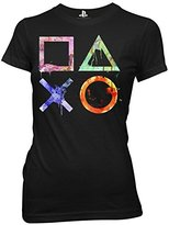 Ripple Junction Playstation Watercolor Symbols Junior T-Shirt XL