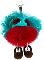 Fendi Bag Bugs keyring - women - Fox Fur - One Size