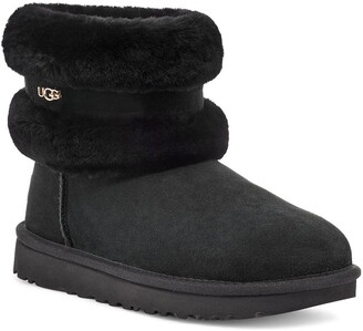 UGG Classic Mini Fluff Genuine Shearling Belted Boot