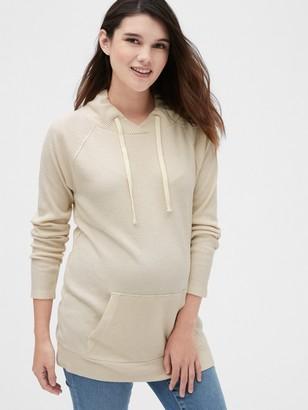 Gap Maternity Softspun Ribbed Funnel-Neck Sweater Tunic