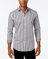 Alfani Men's Textured Check Long-Sleeve Shirt, Classic Fit