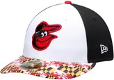 New Era Men's White/Black Baltimore Orioles Turn Back the Clock Throwback Low Profile 59FIFTY Fitted Hat