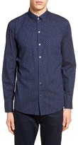 Zachary Prell Men's Kinnear Slim Fit Print Shirt