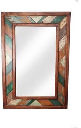 My Amigos Imports Folk Art Rustic Mirror