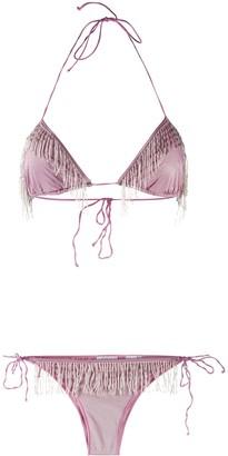Oseree Embellished Fringe Bikini
