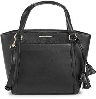 Karl Lagerfeld Paris Iris Hermine Leather Satchel