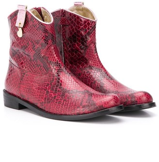 MonnaLisa TEEN snakeskin effect boots