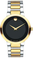 Movado 39.2mm Modern Classic Watch, Silver/Yellow Gold
