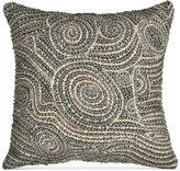 """Donna Karan Home Fuse Beaded 12"""" x 12"""" Decorative Pillow"""