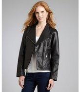 Wyatt black leather moto jacket