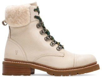 Frye Samantha Shearling & Leather Hiking Boots