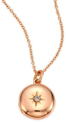 Astley Clarke Diamond & 14K Rose Gold Small Astley Locket Necklace