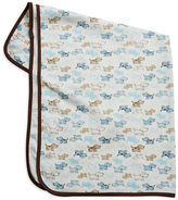 Little Me Puppy Patterned Cotton Blanket