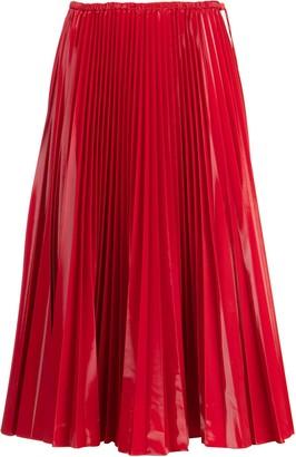Fendi Pleated Midi Skirt