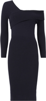 Mason Michelle Asymmetric One Shoulder Sweater Dress Navy P