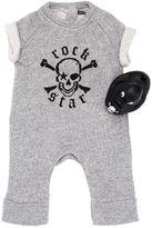 Rock Star Baby Cotton Fleece Romper & Rubber Duck Set