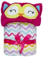 Baby Gear Baby Grear Baby Girls Velboa Plush Hooded Animal Buddy Character Full Expanding Blanket With Gift Wrap Bow