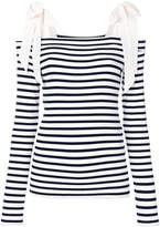 Marc Cain striped bardot sweater