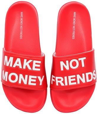 Make Money Not Friends Logo Slide Sandals
