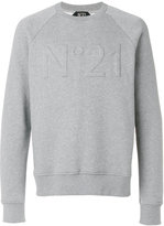 No.21 logo embroidered sweatshirt - men - Cotton - XS
