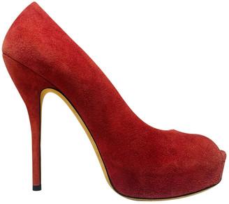 Gucci Red Suede Heels