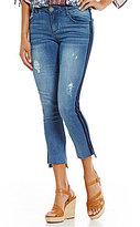 Democracy Ab'solution Ankle Skimmer Double Stripe Step Hem Jeans