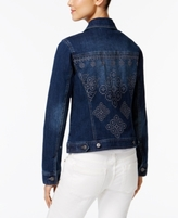 Style&Co. Style & Co Style & Co Petite Embroidered-Back Denim Jacket, Created for Macy's