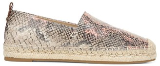 Sam Edelman Khloe Snakeskin-Embossed Leather Espadrilles