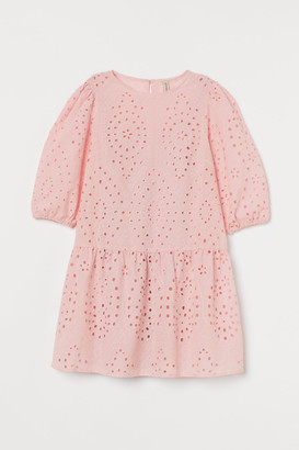 H&M Eyelet Embroidery Dress - Pink