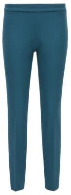 HUGO BOSS Slim Leg Cropped Pants In Portuguese Stretch Fabric - Black