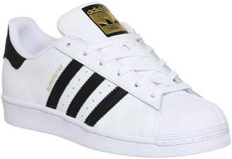 adidas Superstar Trainers White Black Foundation