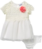 Nicole Miller Crochet Bodice Dress (Baby Girls)