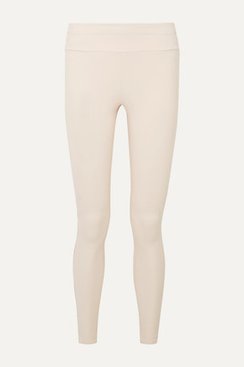 Vaara Tyler Striped Stretch Leggings - Cream