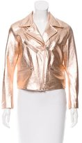 Veda Metallic Leather Jacket