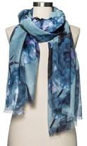 Merona Women's Floral Scarf Blue