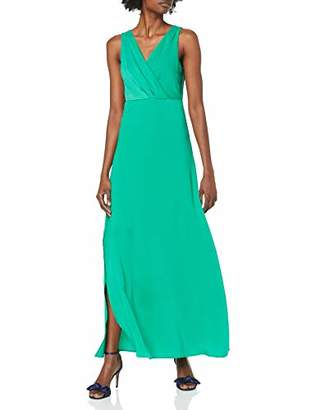 Vila Women's Vifunda S/L Maxi Dress/Za Party Pepper Green, (Herstellergröße: 40)