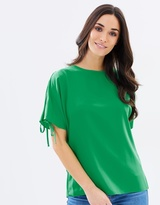 Dorothy Perkins Tie Cold Shoulder Top