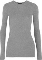 ATM Anthony Thomas Melillo Ribbed Stretch-micro Modal Top - Gray