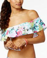 Bar III Tropical Off-The-Shoulder Bandeau Bikini Top, Created for Macy's
