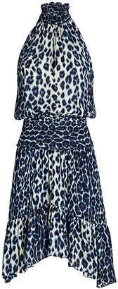 A.L.C. Cody Silk Leopard Mini Dress