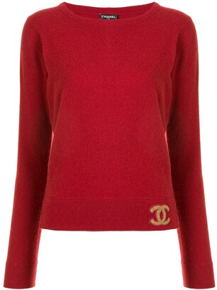 Chanel Pre Owned 2001 CC cashmere jumper